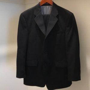 Calvin Klein Black modern suit